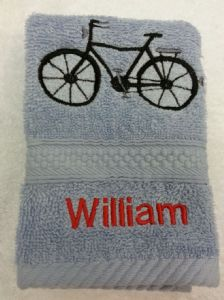 BICYCLE PERSONALISED FACE CLOTH